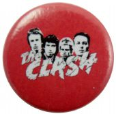 The Clash - 'Group Heads Red' Button Badge